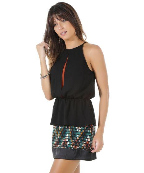 e076cb695d858 ... Rosa Claro · consultar em lojas. c-a. Regata-Peplum -com-Fenda-Preta-8461359-Preto 1