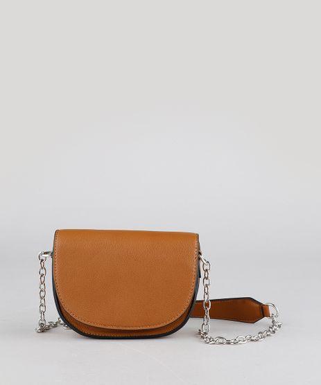 Bolsa-Feminina-Transversal-Pequena-Alca-com-Corrente-Caramelo-9484903-Caramelo_1
