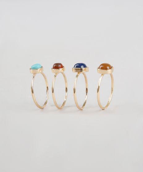 Kit-de-4-Aneis-Femininos-com-Pedras-Dourado-9533468-Dourado_1