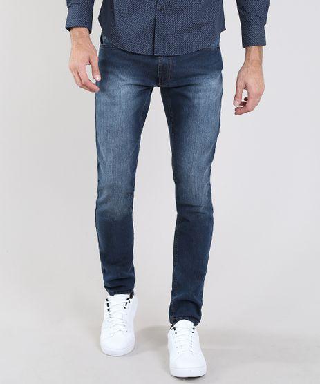 Calca-Jeans-Masculina-Slim-com-Bolsos-Azul-Escuro-9532888-Azul_Escuro_1