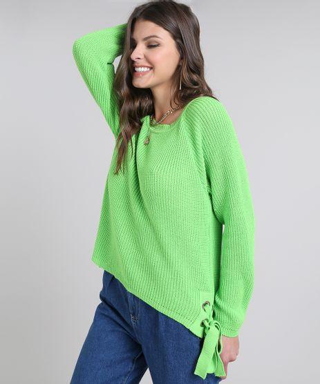 Sueter-Feminino-em-Trico-com-Amarracao-Lateral-Verde-Neon-9505951-Verde_Neon_1