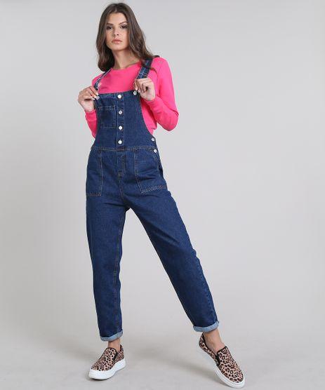 Macacao-Jeans-Feminino-com-Bolsos-Azul-Escuro-9639709-Azul_Escuro_1