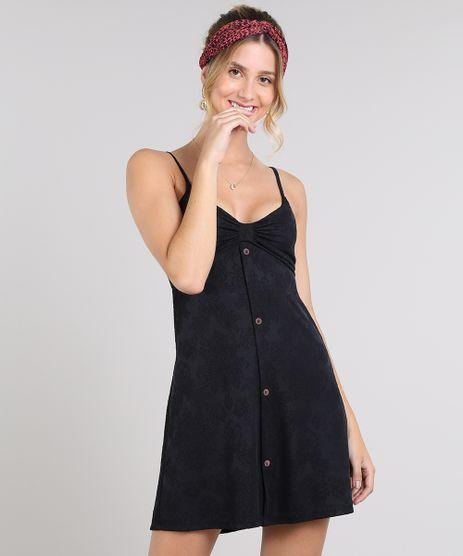 Vestido-Feminino-Curto-com-Botoes-Alca-Fina-Preto-9576338-Preto_1
