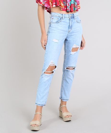 Calca-Jeans-Feminina-Mom-Destroyed-Azul-Claro-9573581-Azul_Claro_1