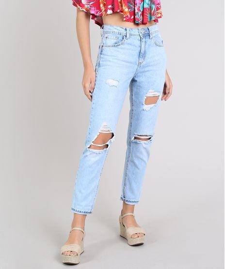 Calca-Jeans-Feminina-Mom-Destroyed-Azul-Claro-9573581-Azul_Claro_1