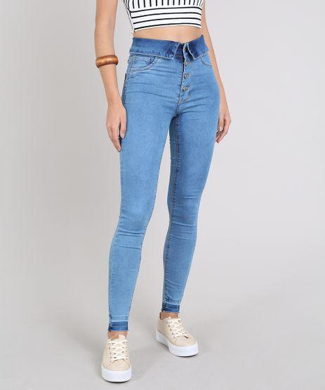 79ec9dd06c Calca-Jeans-Feminina-Sawary-Super-Skinny-com-Cos-