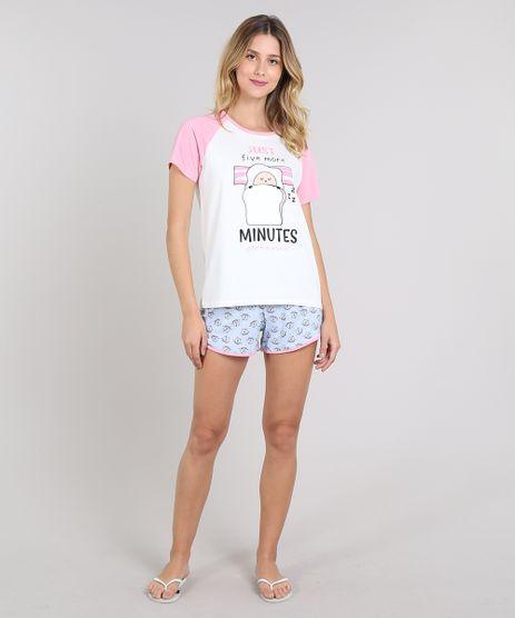 Pijama-Feminino--Five-Minutes--Manga-Curta-Off-White-9610501-Off_White_1