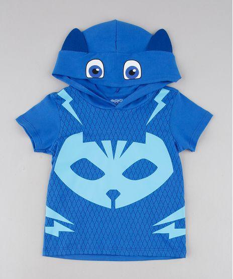 Camiseta-Infantil-Estampada-PJ-Mask-Gato-com-Capuz-Manga-Longa-Azul-9575884-Azul_1