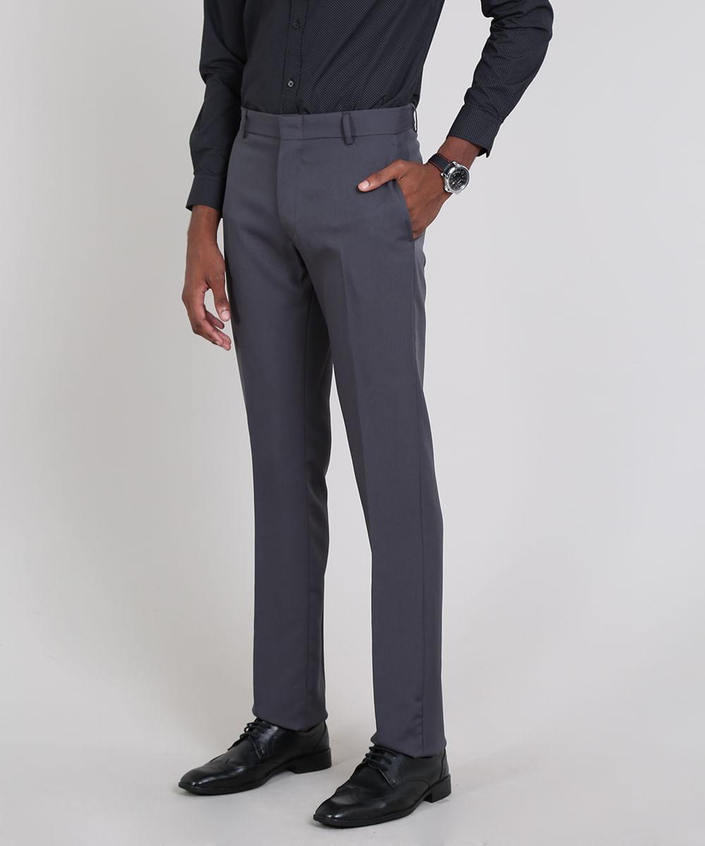 Calça Masculina Alfaiatada Cinza