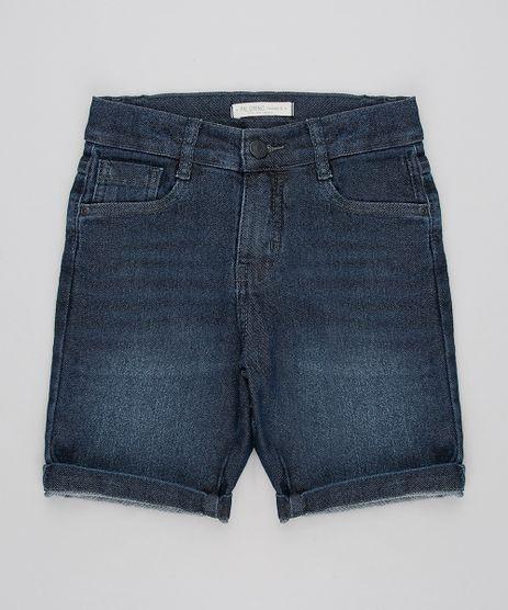 Bermuda-Jeans-Infantil-Slim-com-Bolsos-Azul-Escuro-9596236-Azul_Escuro_1