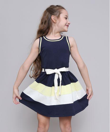 Vestido-Infantil-com-Laco-Sem-Manga-Decote-Redondo-Azul-Marinho-9222071-Azul_Marinho_1