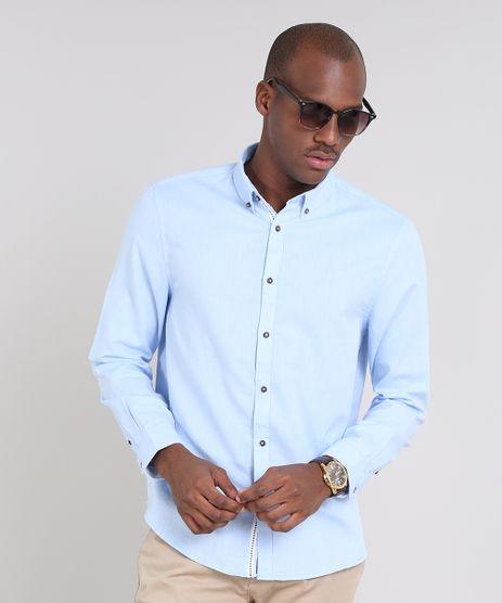 Camisa-Masculina-Comfort-Manga-Longa-Azul-Claro-9523389-Azul_Claro_1