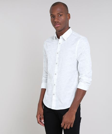 Camisa-Masculina-Slim-Estampada-Manga-Longa-Branca-9523408-Branco_1