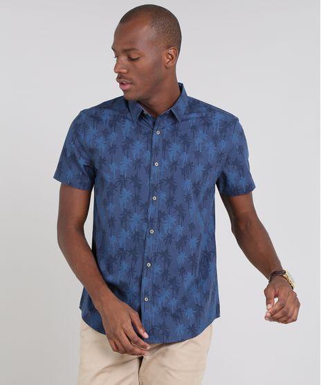 Camisa-Masculina-Comfort-Estampada-de-Coqueiros-Manga-Curta-Azul-Marinho-9523419-Azul_Marinho_1