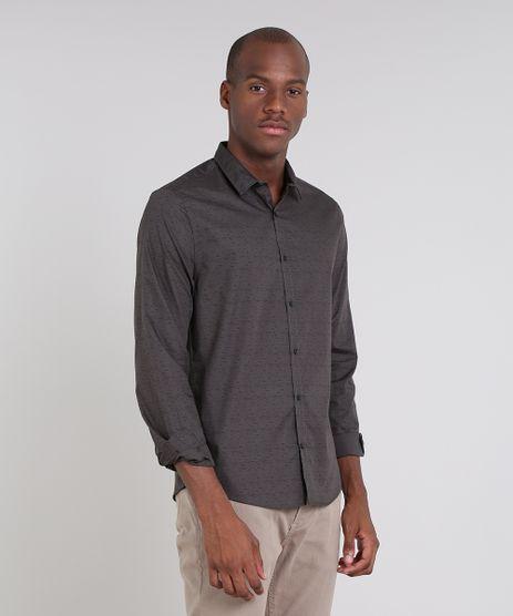 Camisa-Masculina-Slim-Estampada-Manga-Longa-Chumbo-9521524-Chumbo_1
