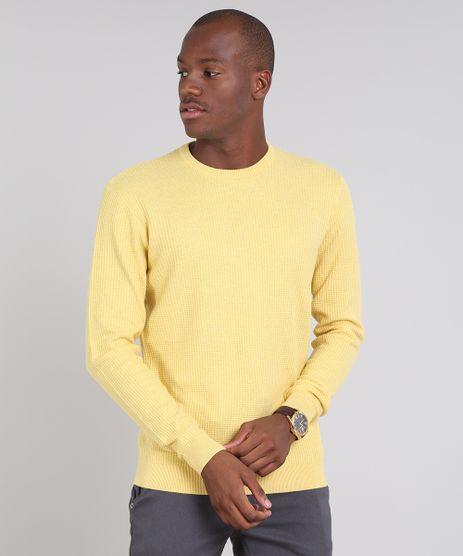 Sueter-Masculino-em-Trico-Amarelo-9520468-Amarelo_1