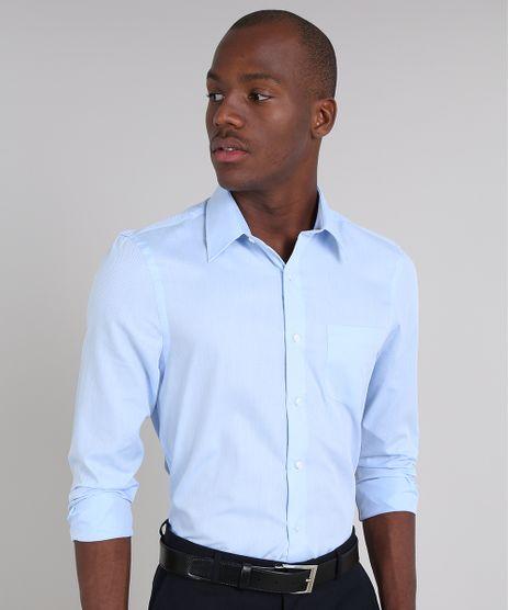 Camisa-Masculina-Comfort-Estampada-com-Bolso-Manga-Longa-Azul-Claro-1-9050785-Azul_Claro_1_1