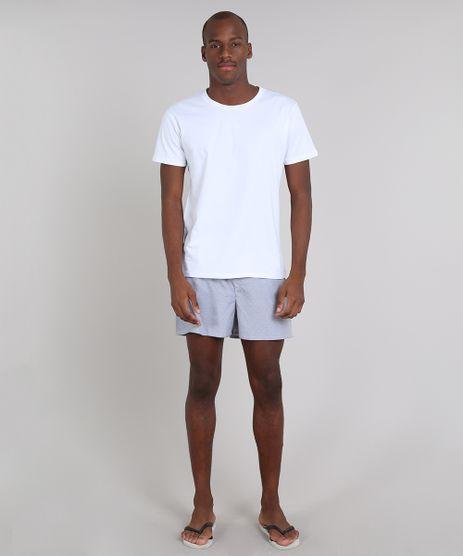 Pijama-Masculino-com-Camiseta-Manga-Curta---Samba-Cancao-Estampada-Listrada-Branco-9556236-Branco_1