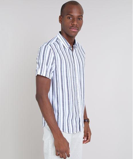 Camisa-Masculina-Comfort-Listrada-Manga-Curta-Off-White-9523400-Off_White_1