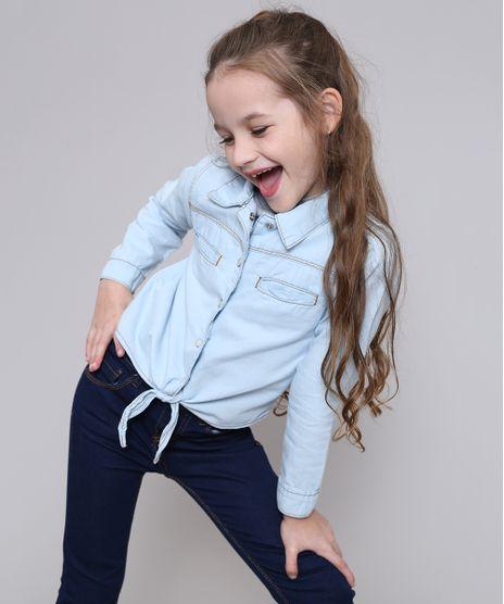 Camisa-Jeans-Infantil-com-Bolsos-e-No-Manga-Longa-Azul-Claro-9416219-Azul_Claro_1