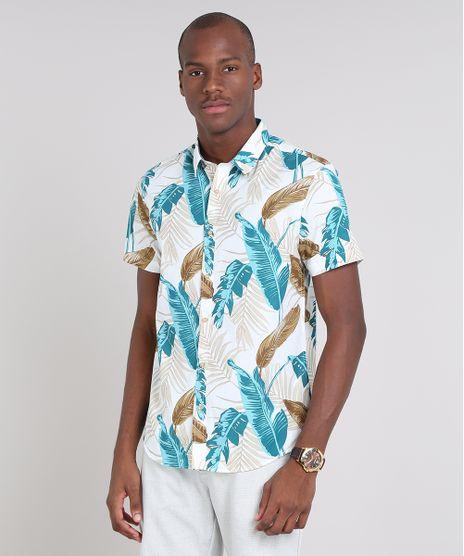 Camisa-Masculina-Comfort-Estampada-de-Folhagem-Manga-Curta-Off-White-9523411-Off_White_1