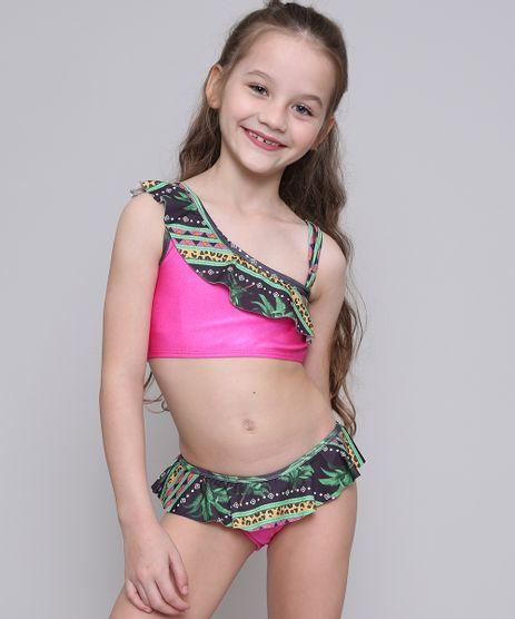 Biquini-Infantil-Estampado-com-Babado-e-Protecao-UV50--Pink-9522709-Pink_1