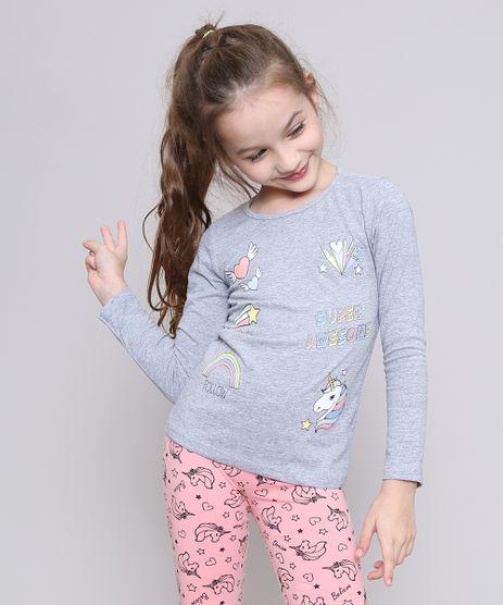 Blusa-Infantil-com-Estampas-e-Glitter-Manga-Longa-Cinza-Mescla-9545324-Cinza_Mescla_1