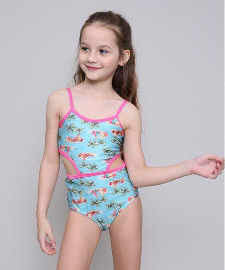 Maio-Infantil-Estampado-Tropical-com-Recortes-e-Protecao-UV50--Azul-Claro-9522710-Azul_Claro_1