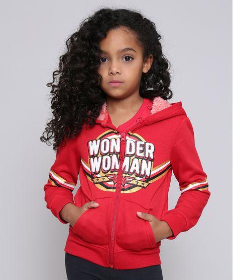 Blusao-Infantil-Mulher-Maravilha-em-Moletom-com-Pelo-no-Capuz-Vermelho-9362180-Vermelho_1