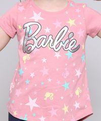 Blusa-Infantil-Barbie-com-Brilho-Manga-Curta-Rosa-9586096-Rosa_4