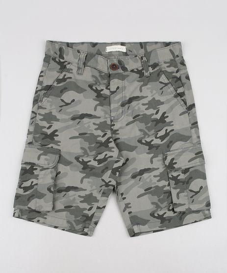 Bermuda-de-Sarja-Infantil-Cargo-Estampada-Camuflada-Verde-Militar-9540824-Verde_Militar_1