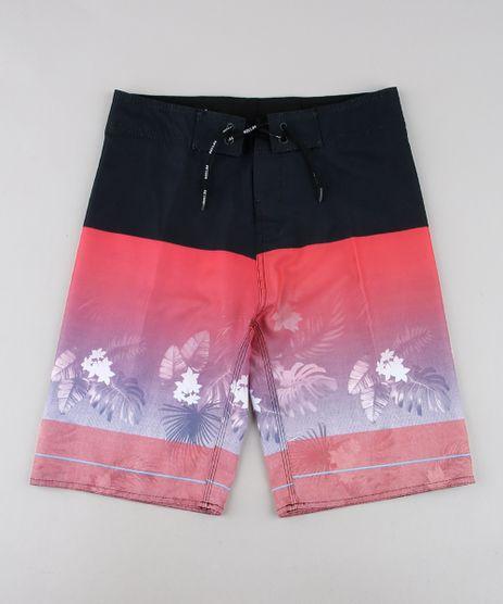 Bermuda-Surf-Infantil-com-Estampa-Tropical-Preta-9536013-Preto_1