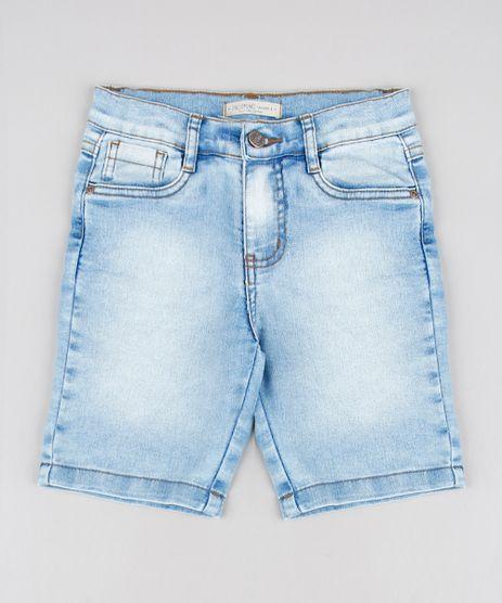 Bermuda-Jeans-Infantil-Slim-com-Bolsos-Azul-Claro-9591169-Azul_Claro_1