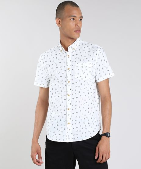 Camisa-Masculina-Mini-Print-Folhagem-com-Bolso-Manga-Curta-Off-White-9079743-Off_White_1