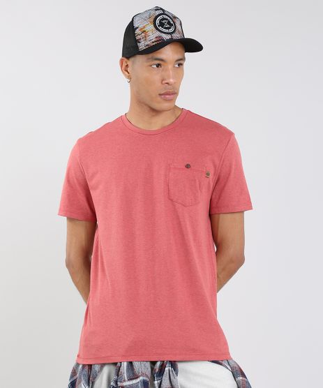 Camiseta-Masculina-com-Bolso-Manga-Curta-Gola-Careca-Vermelha-9605289-Vermelho_1
