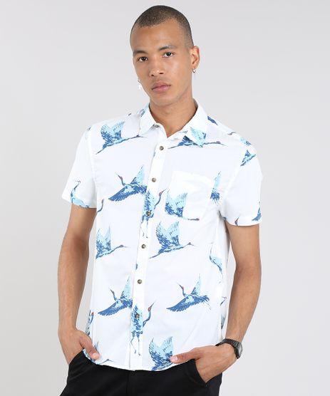 Camisa-Masculina-Estampada-de-Passaros-Manga-Curta-Off-White-9514519-Off_White_1