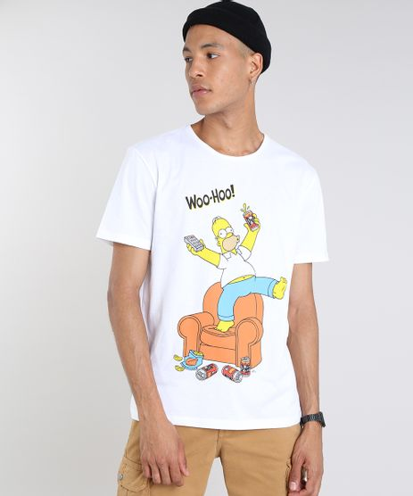 Camiseta-Masculina-Os-Simpsons-Manga-Curta-Gola-Careca-Off-White-9512392-Off_White_1