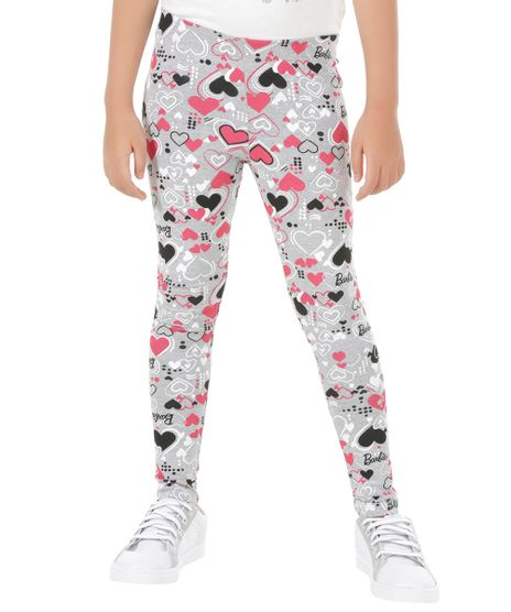 Calca-Legging-Estampada-Barbie-Cinza-Mescla-8548733-Cinza_Mescla_1