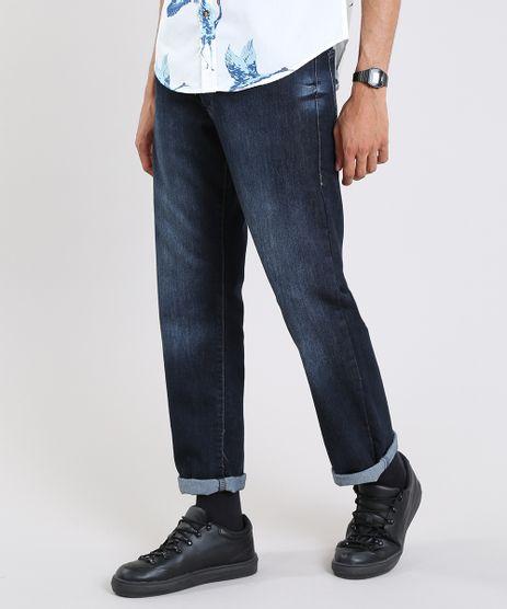 Calca-Jeans-Masculina-Reta-com-Bolsos-Azul-Escuro-9595656-Azul_Escuro_1