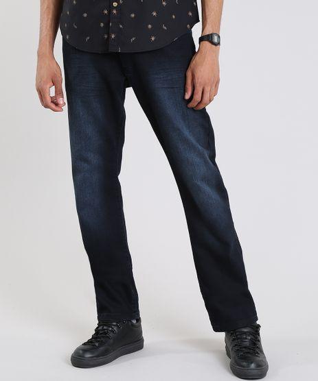 Calca-Jeans-Masculina-Reta-com-Bolsos-Azul-Escuro-9595657-Azul_Escuro_1