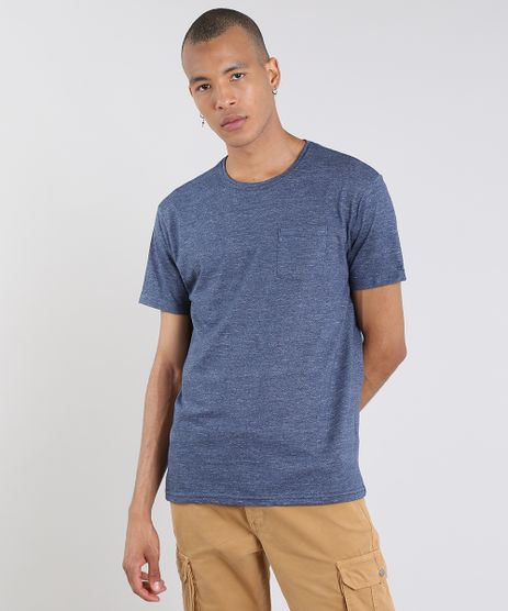 Camiseta-Masculina-com-Bolso-Manga-Curta-Gola-Careca-Azul-Marinho-9540853-Azul_Marinho_1