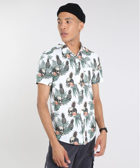 Camisa-Masculina-Estampada-Tropical-com-Caveira-Manga-Curta-Off-White-9514517-Off_White_1