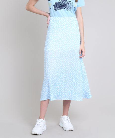 Saia-Feminina-Mindset-Midi-Estampada-Floral-Azul-Claro-9687361-Azul_Claro_1