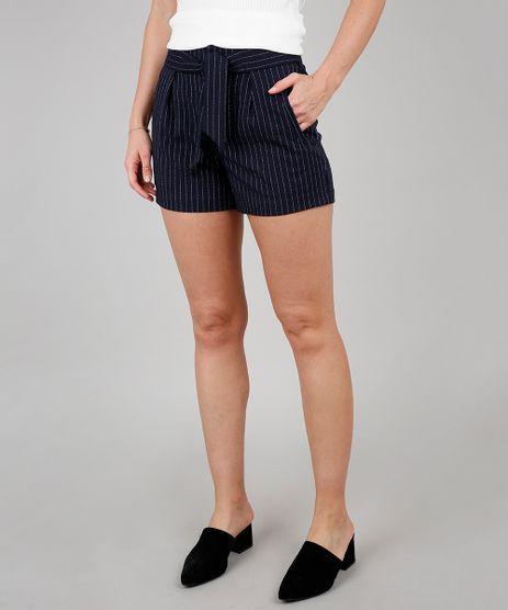 Short-Feminino-Risca-de-Giz-com-Faixa-para-Amarrar-Azul-Marinho-9558343-Azul_Marinho_1