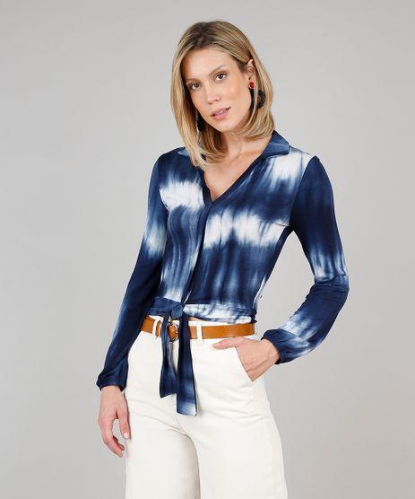 Camisa-Feminina-Estampada-Tie-Dye-com-No-Manga-Longa-Azul-Marinho-9628648-Azul_Marinho_1