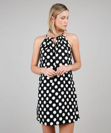 Vestido-Feminino-Curto-Halter-Neck-Estampado-de-Poa-Preto-9549806-Preto_1