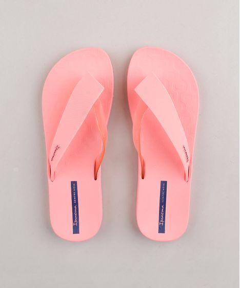 nueva estilos 3c866 4ef25 Chinelo Ipanema Tiras Largas Rosa Neon