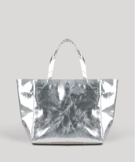 Bolsa-Feminina-Mindset-Shopper-Grande-Metalizada-Prateada-9677118-Prateada_1