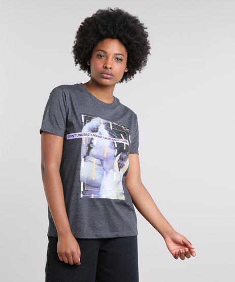 T-Shirt-Feminina-Mindset--I-Also-Don-t-Care--Manga-Curta-Decote-Redondo-Cinza-Mescla-Escuro-9671555-Cinza_Mescla_Escuro_1