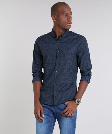 Camisa-Masculina-Slim-Estampada-Floral-Manga-Longa-Azul-Marinho-9429420-Azul_Marinho_1